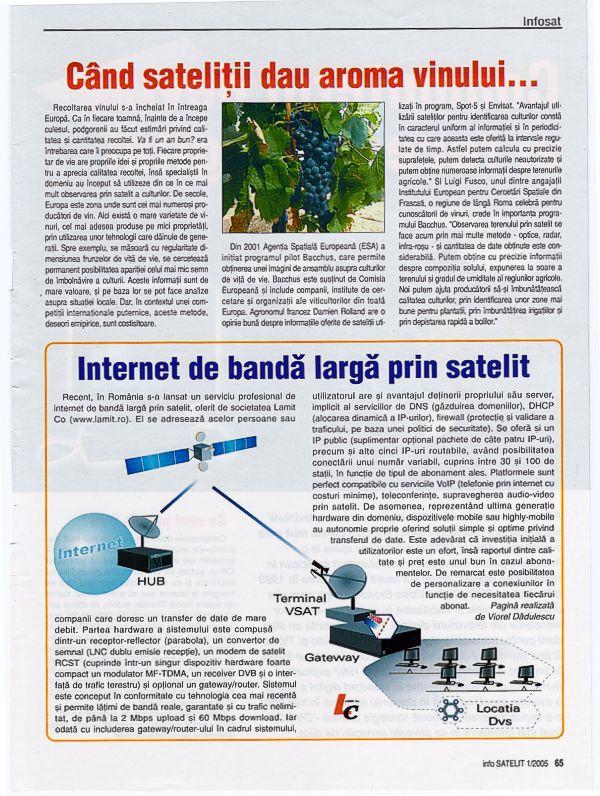 Articol internet prin satelit Info Satelit 01/2005