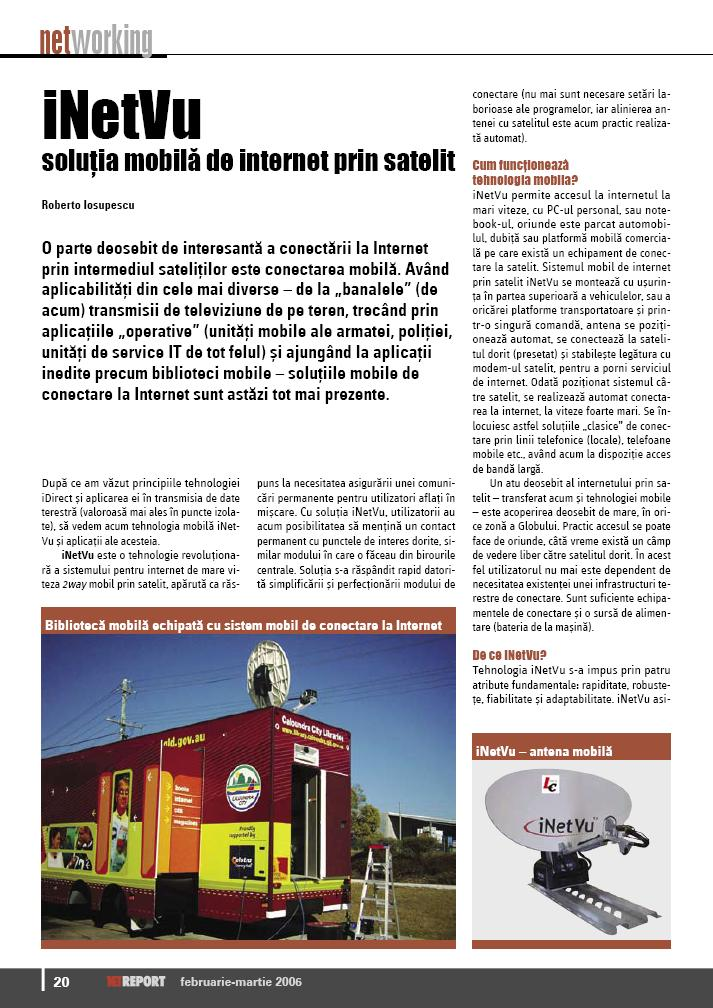Net report 12/2006 about mobile satellite internet equipment pic 1