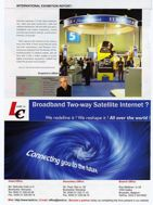Internet by satellite article in Tele Satellite International