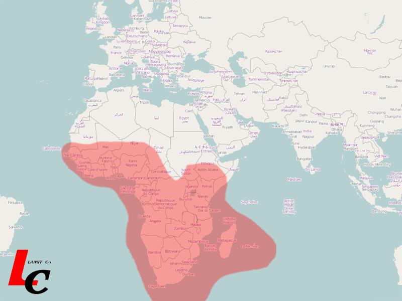 Africa W3A Satellite Coverage Satellite internet Coverage