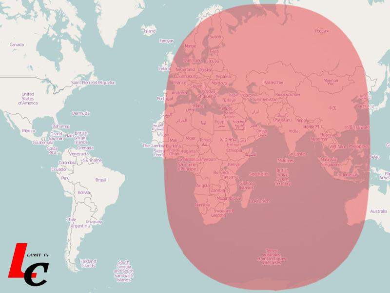 Satellite internet Coverage Maps | Ku-Band C-band satellite